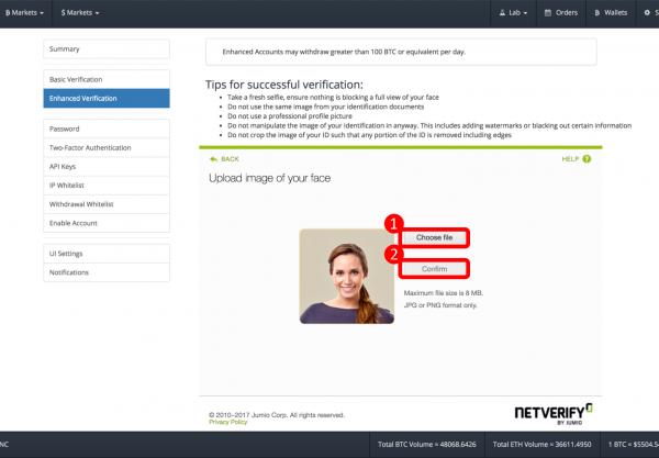Bittrex(ビットトレックス)のアカウントアップグレード方法