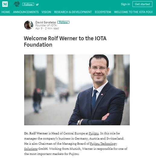 富士通中央ヨーロッパトップ、IOTA財団に新規加入