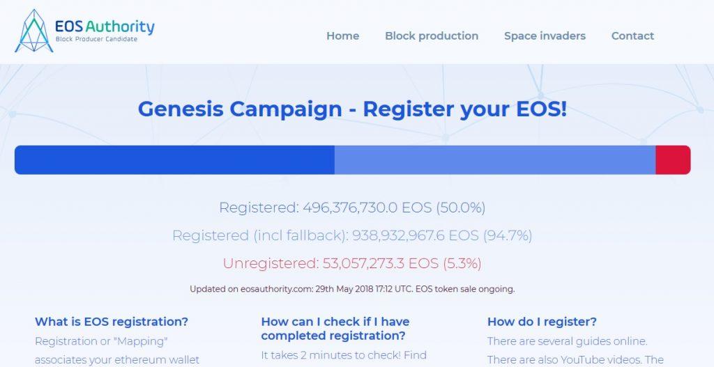 いよいよ6月1日にEOS(イオス)がメインネットに移行!登録は完了していますか?