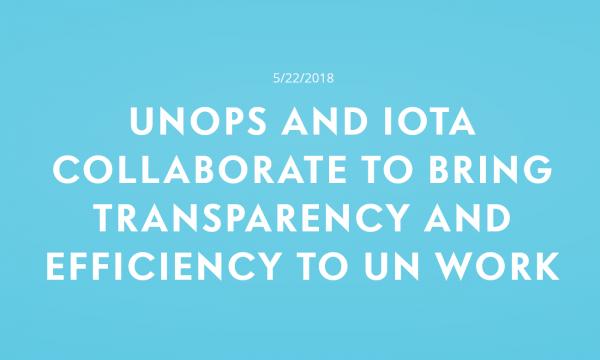UNOPがIOTAとの提携を発表