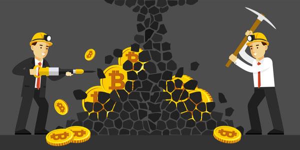 ビットコイン(BTC)のマイニング(採掘)をする人々