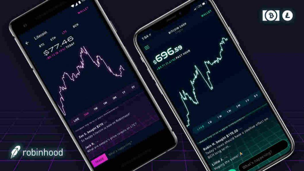 米オンライン証券会社ロビンフッド、LTC、BCHの取引開始