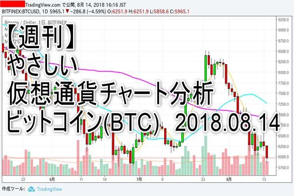 【週刊】やさしい仮想通貨チャート分析2018.08.14