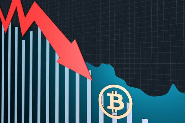 ビットコイン急落 5分間で650ドルの下落