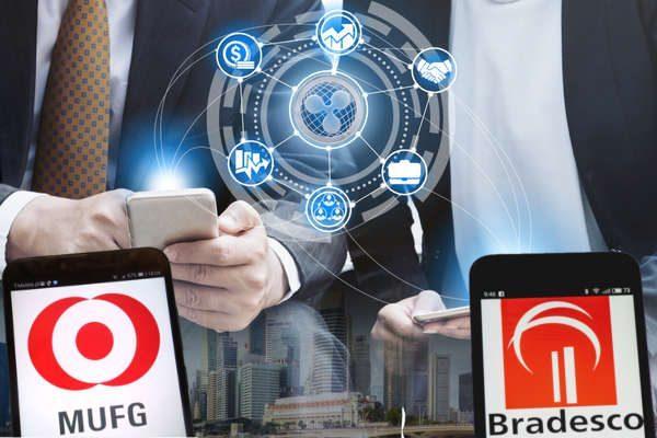 MUFG、Rippleテクノロジーを国際送金サービスに検討。Banco Bradescoと覚書署名
