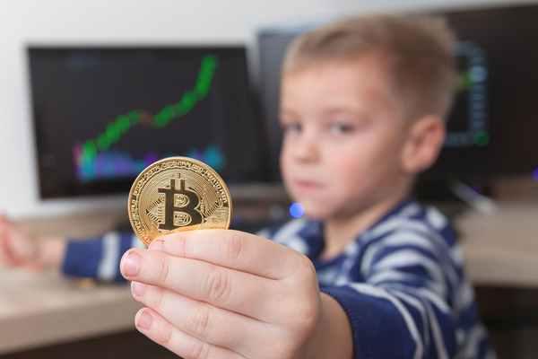 ビットコインを持つ子供