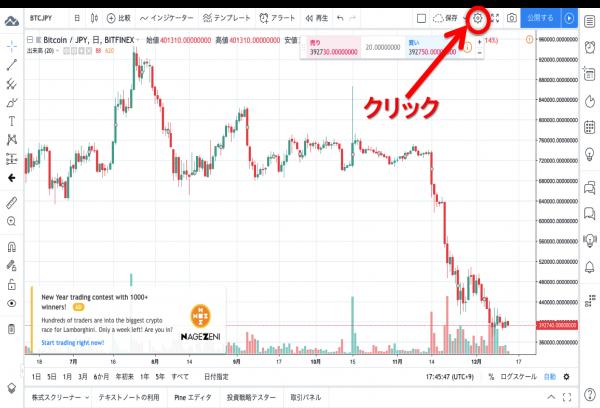 TradingView 設定画面へ