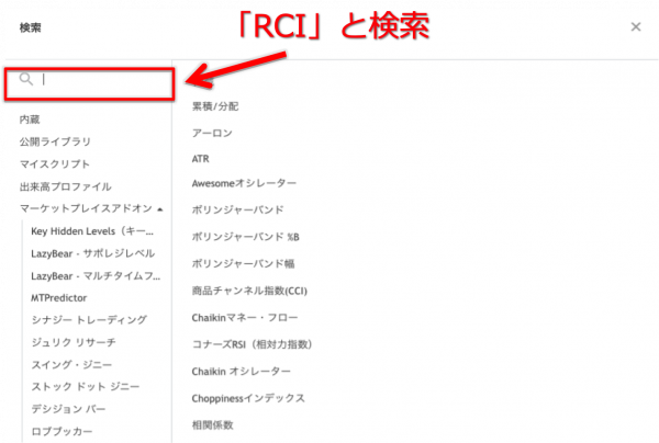 TradingView(トレーディングビュー) RSIとRCIの表示方法、活用