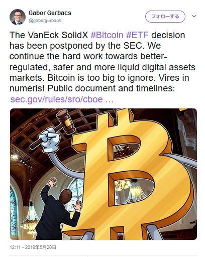 ビットコインETFの決定が見送られても動じない強気のBTC