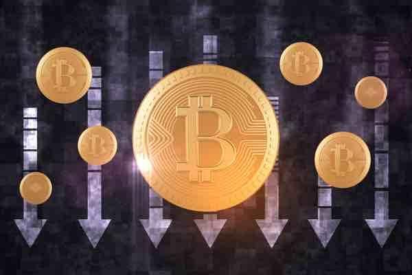 ビットコイン サポートレベルの1万ドルまで下落